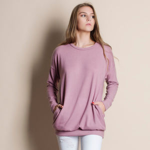 Absent Traveler Pink Soft Sweater